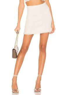 For Love & Lemons Britney Ruffle Mini Skirt