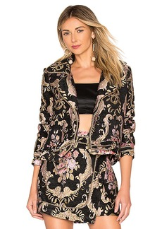 For Love & Lemons Brocade Moto Jacket
