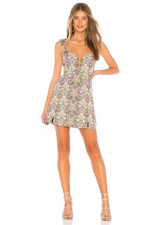 For Love & Lemons Brocade Tapestry Mini Dress