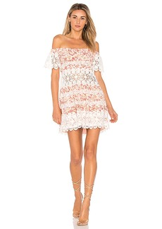 For Love & Lemons Cadence Off The Shoulder Dress in Pink. - size L (also in M,S,XS)