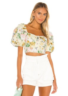 For Love & Lemons Chamomile Denim Crop Top