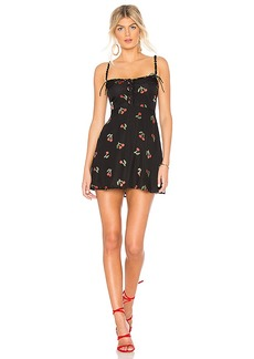 For Love & Lemons Cherry Twist Tank Mini Dress