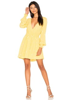 For Love & Lemons Chiquita Long Sleeve Dress in Yellow. - size S (also in L,M,XS)