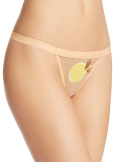 For Love & Lemons Chiquita Sequin Mesh Thong