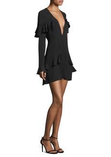 Claire Deep V Mini Dress