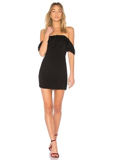 For Love & Lemons Claire Off Shoulder Dress in Black. - size S (also in L,M,XS)