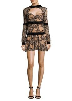 For Love & Lemons Clemence Floral Mini Shift Dress