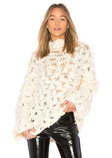 For Love & Lemons Cloudy Day Popover Sweater