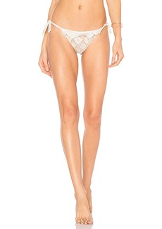 For Love & Lemons Corsica Lacey Ruffle Bottom in White. - size L (also in M,S,XS)