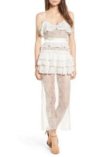For Love & Lemons Cosmic Midi Lace Dress