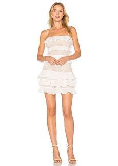 For Love & Lemons Cosmic Tiered Lace Dress in White. - size M (also in L,S,XS)