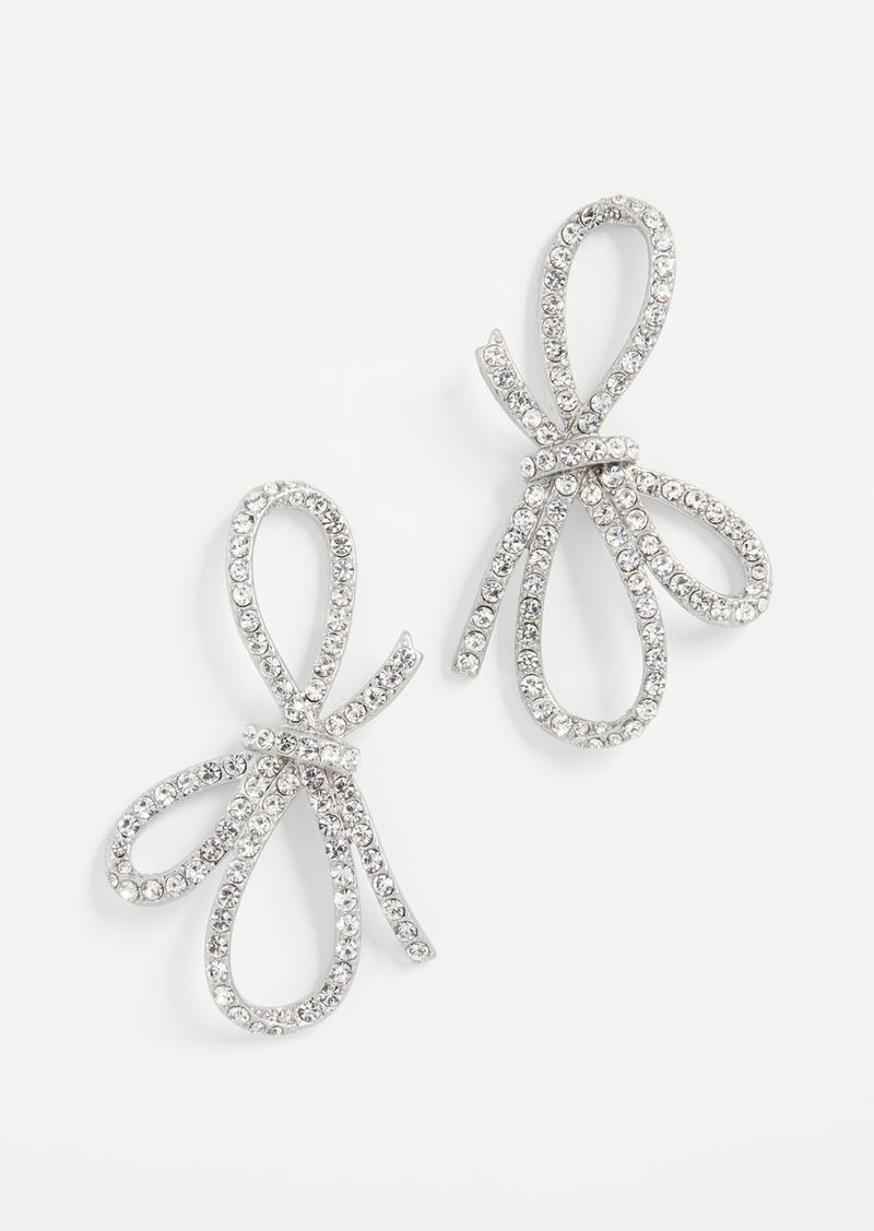 For Love Lemons Crystal Bow Earrings
