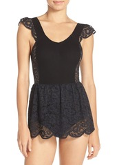 For Love & Lemons 'Daisy' Lace Skirted Bodysuit