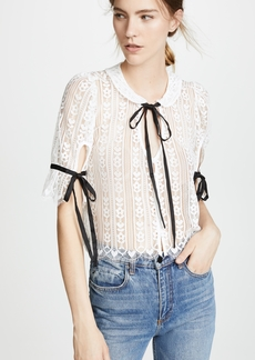 For Love & Lemons Dakota Lace Blouse