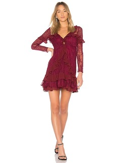 For Love & Lemons Daphne Lace Mini Dress in Burgundy. - size XS (also in L,M,S)