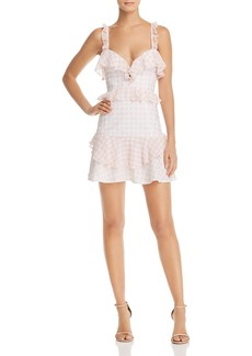 For Love & Lemons Dixie Ruffled Gingham Dress