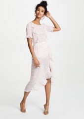 For Love & Lemons Dorothy Ruffle Midi Dress