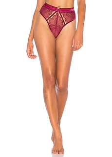 For Love & Lemons Edith Lace Panty in Red. - size L (also in M,S,XS)