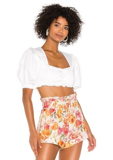 For Love & Lemons Effie Crop Top