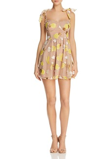 For Love & Lemons Embellished Mini Dress