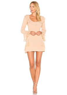 For Love & Lemons Evie Mini Dress in Peach. - size M (also in L,S,XS)