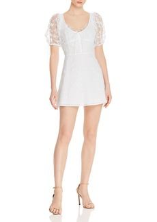 For Love & Lemons Felix Cotton Eyelet Lace Mini Dress