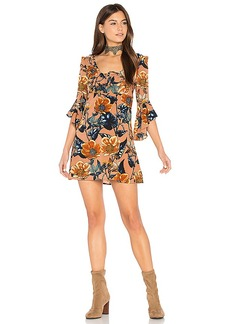 For Love & Lemons Flamenco Mini Dress in Tan. - size M (also in S,XS)