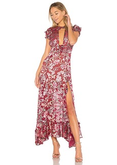For Love & Lemons Flora Maxi Dress in Mauve. - size S (also in L,M,XS)