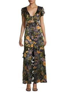 For Love & Lemons Floral-Print Maxi Dress