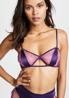 For Love & Lemons Georgi Silk Paneled Bra