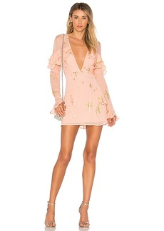 For Love & Lemons Gilded Star Mini Dress in Pink. - size L (also in M,S,XS)