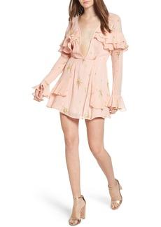 For Love & Lemons Gilded Star Minidress