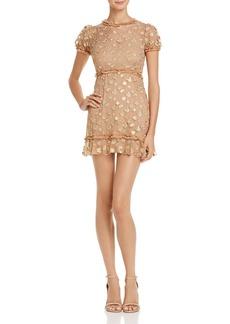 For Love & Lemons Golden Garden Tulle Dress