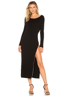 For Love & Lemons Harley Zipper Midi Dress