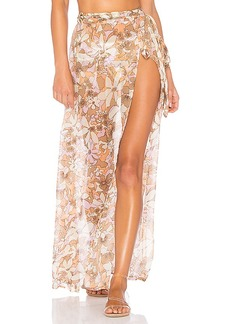 For Love & Lemons Havana Chiffon Skirt