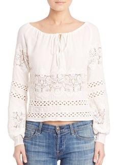 For Love & Lemons Hayley Crochet Blouse