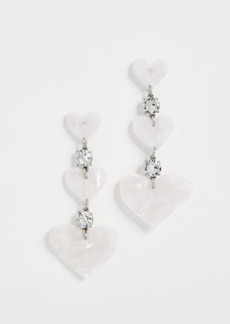 For Love & Lemons Heart Drop Earrings