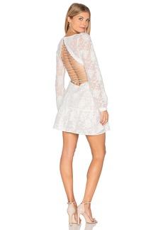 For Love & Lemons Jolene Lace Up Dress