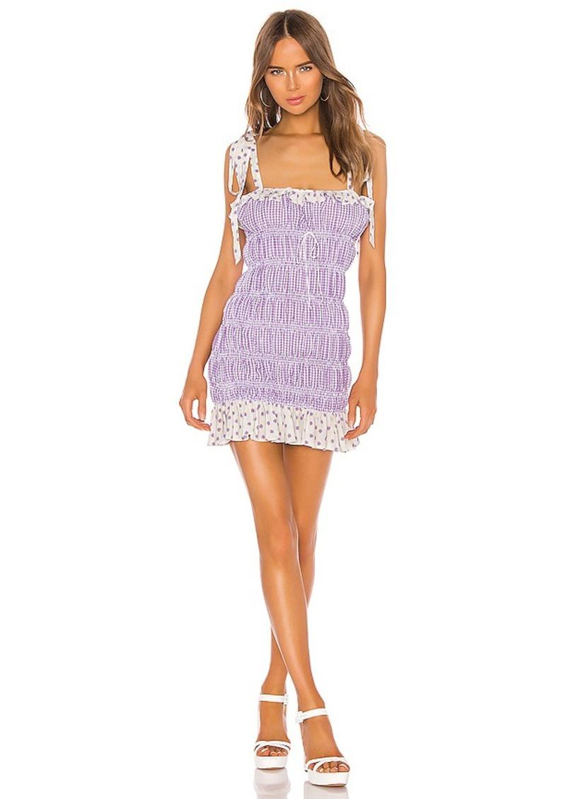 For Love & Lemons Lilac Mini Dress