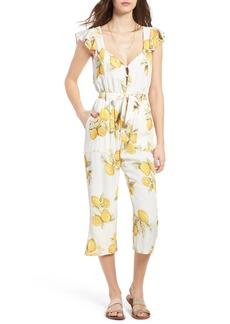 For Love & Lemons Limonada Crop Jumpsuit