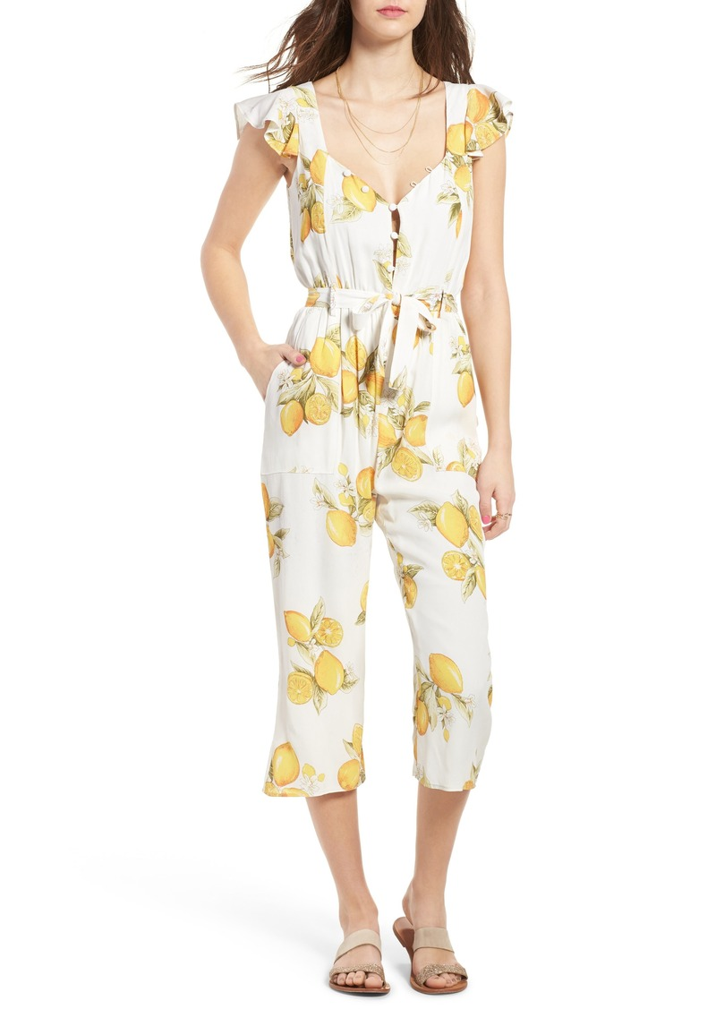 For Love & Lemons Limonada Crop Jumpsuit