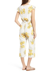 For Love Lemons For Love Lemons Limonada Crop Jumpsuit Dresses
