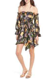 For Love & Lemons Luciana Strapless Fit & Flare Dress