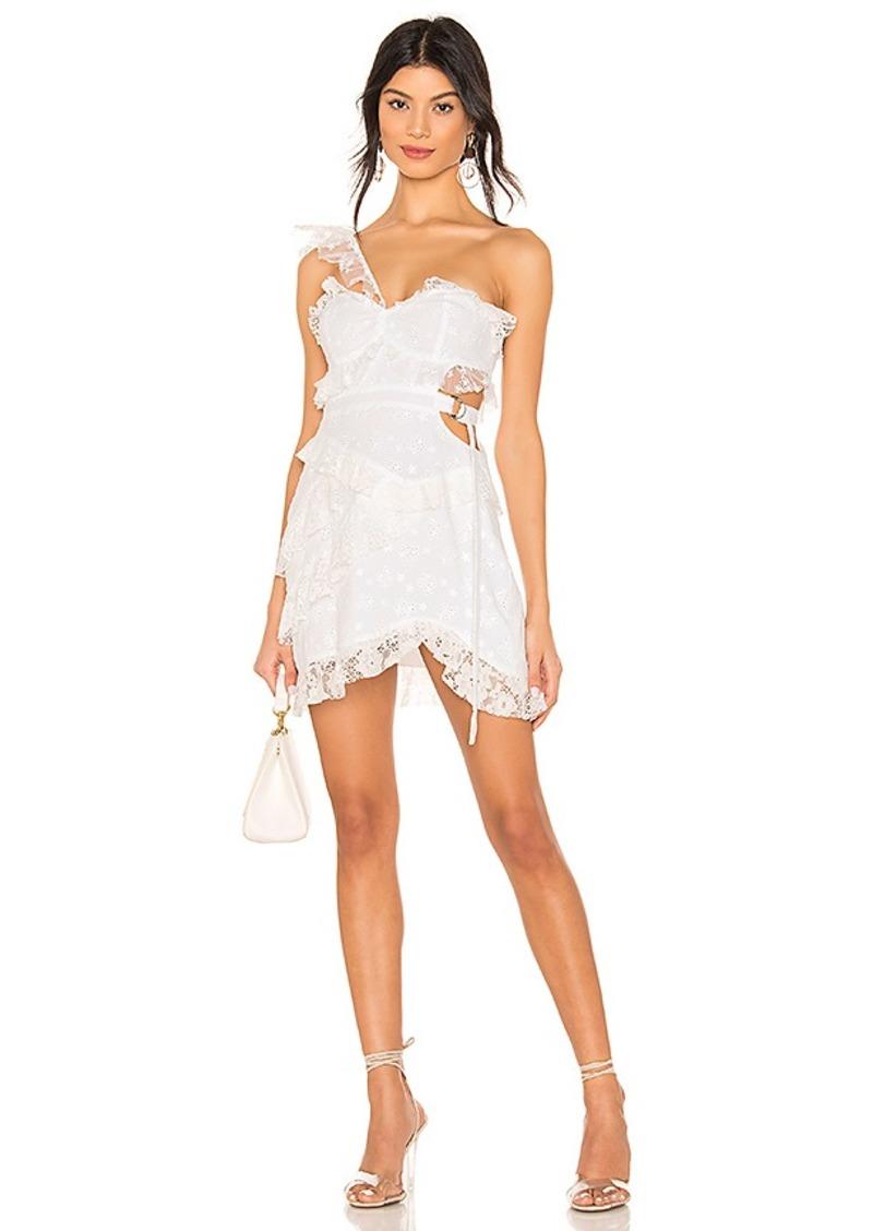 For Love & Lemons Lucien One Shoulder Dress