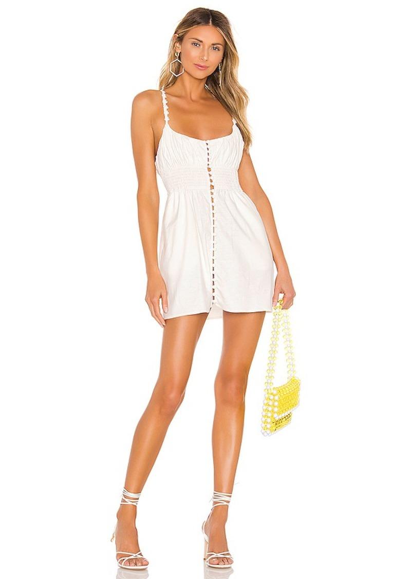 For Love & Lemons Macaroon Button Mini Dress