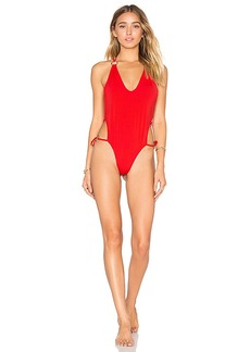 For Love & Lemons Mallorca Ring One Piece in Red. - size M (also in L,S,XS)