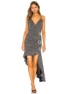 For Love & Lemons Margaux Glitter Maxi Dress
