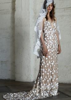 For Love & Lemons Marguerite Floral Petal Gown