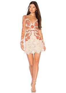 For Love & Lemons Matador Tulle Dress in Peach. - size L (also in M,S,XS)