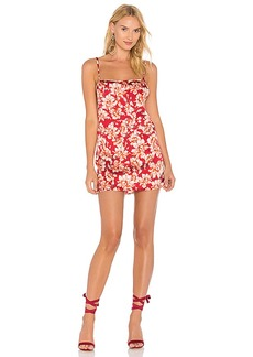 For Love & Lemons Melanie Slip Dress in Red. - size L (also in M,S,XS)